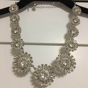 Kate Spade Silver Flower Statement Necklace
